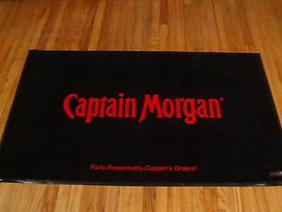 Captain Morgan Floor Mat Area Rug New In Box Bar
