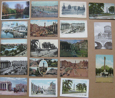 DUBLIN Job Lot of 18x Old  Postcards 1900-50s, Mostly pre-1915