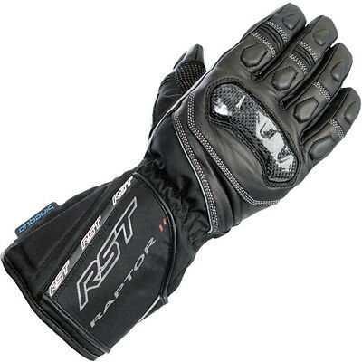 RST Raptor 2 CE Waterproof Textile Leather Mix Motorcycle Gloves - Black