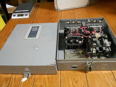 Allen Bradley 505-BOXD-104 Reversing Starter, With 505-BAXD Enclosure and Relay