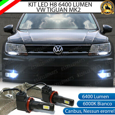 Kit Full Led Vw Tiguan Mk2 Lampade H8 Fendinebbia Canbus 6000K 100% No Error