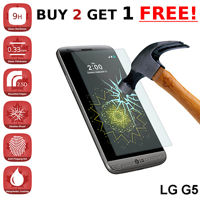 LG G5 Premium Clear Tempered Glass Screen Protector from Canada