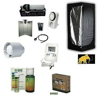 KIT Completo Coltivazione Indoor GROW BOX MAMMOTH 60+CFL 125W AGRO Basso Consumo
