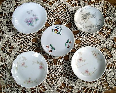 "Vintage Butter Pats 3"" Little Plates ~ Set of 5 ~"