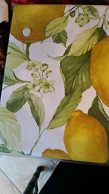 "Firenze Italian tablecloth 66""x90"" with large lemons"