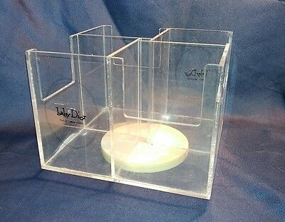 """Clear Plastic baby Dior Paris New York spinner display rack 4 4-5"""" sections"""