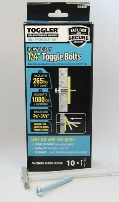 "Toggler SnapToggle BB 10 1/4"" Heavy Duty Strap Toggle Anchor with Screws 50425"