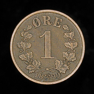 Norway 1889 1 Ore high grade