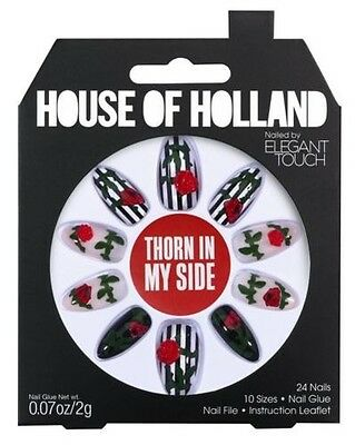 House Of Holland False Nails - Thorn In My Side Roses (24 Nails)