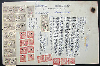 Thailand Document Revenues Stamps Fiscal Marken Dokument (H-9350+