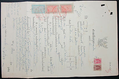 Thailand Document Revenues Stamps Fiscal Marken Dokument (H-9392+