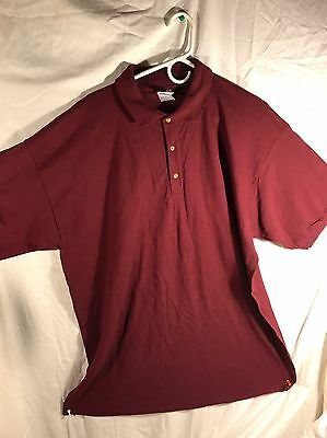 NEW**Hennessy Vsop Golf-polo Style  Shirt XL, Red-Burgundy, Comfy, Bar Shirt