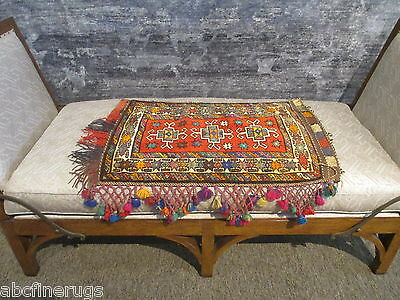"""2'1""""x3' Decorative Pillow Cover Wall/Sofa Hanging Hand-knotted Wool Rug 581131"""