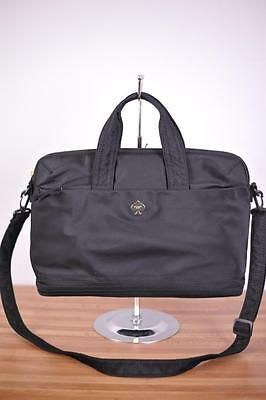 KATE SPADE Black Flatiron Nylon Dawn Crossbody Laptop Briefcase Messenger Bag