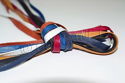 FLAT WAXED Sport Cotton Shoelaces Sneakers Casual Colored Shoe Laces Boot String