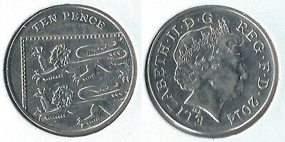 2014 Great Britain 10 pence coin