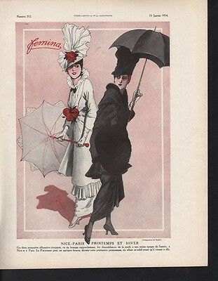 1914 Femina Printemps Ed Hiver Dress Paris Coat Hat Ad15733