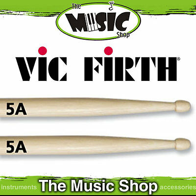 Vic Firth American Classic 5A Wood Tip Drum Sticks New