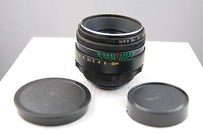 Helios 44-2  58mm f2 lens, excellent, optically very nice.