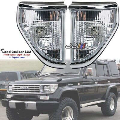 Toyota Landcruiser 70/75/78 Series 90-96 Side Crystal Corner Lamp Lights 1Pair
