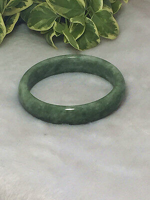 hot Chinese Beautiful Genuine Natural Green Jade Gems Bangle Bracelet ~058#