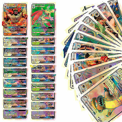 20pcs Pokemon GX Cards Sun and Moon Trading Cards Game Toy Gift English Version
