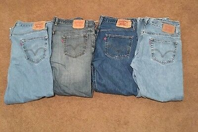 Levi's Men's Jeans Lot of 4 36 x 32 denim 550 559 501 505