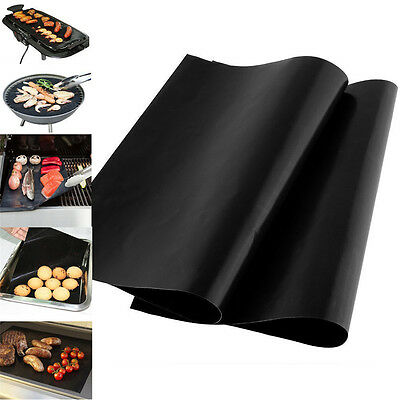 2PC BBQ Grill Mat Non-Stick Bake Grilling Mats Barbecue Pad OR 1 PC BBQ Brush