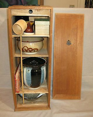 Vintage 1950s-60s Japanese Tea Ceremony Set Mint in Bamboo Case