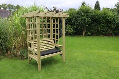 Wooden Garden Furniture Garden arbour Wooden Trellis Bench Seat Solid 2 seater
