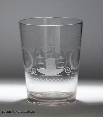 Early Victorian engraved tumbler