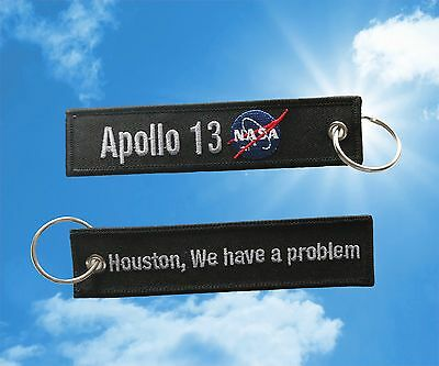 "Apollo 13 ""Houston, We have a problem"" Keychain luggage baggage tag"