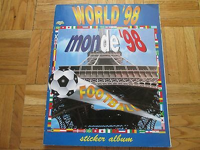 FIFA WORLD CUP FRANCE 98 MONDE  Complete Album with all stickers (DIAMOND)