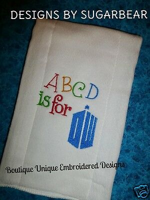DOCTOR WHO Burp Cloth -  ABCD Fun BaBy Shower GifT!