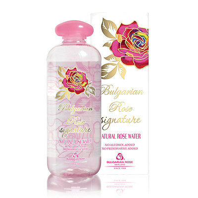 Natural Rose Water Bulgarian Rose Signature 500Ml In A Box Without Preservatives