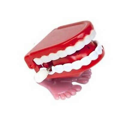 Clockwork Chattering Jump Teeth Creative Toy Funny Prank Jump Mouth Wind-Up Toys