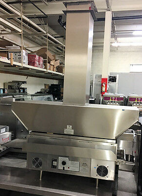 Star/holman Conveyor Oven Model Qt14 With A Custom Exhaust Hood.