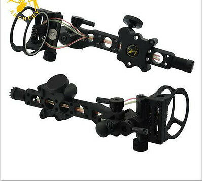 7 Pin Compound bow optic bow sight .019 Micro Adjust Detachable Bracket for RH