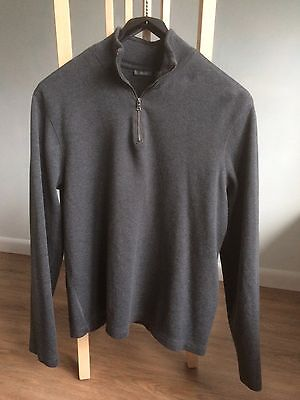 1/2 Zip Long Sleeve Black Sweater Boys Large 14-16 Excellent