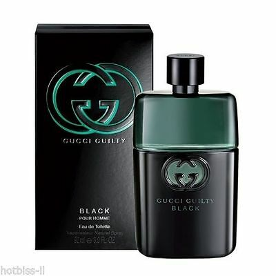 Gucci Guilty Black Cologne Perfume Men 3 1.7oz Edt Spray Brand New FREE SHIPPING