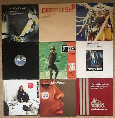 "90s & 2000's / house / Dance /vinyl Joblot / 9 x 12"" vinyl records / ex con"