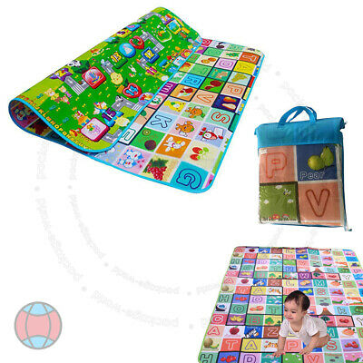 New 2 Side Kids Crawling Educational Game Baby Play Gift Mat Soft Foam Carpet