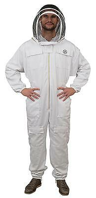Humble Bee 411 Polycotton Beekeeping Suit with Fencing Veil (Large)