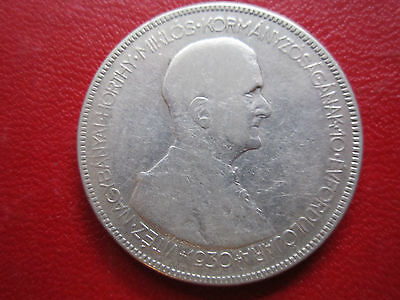 Hungary 1930  5 Pengo  **large Silver Crown**  Admiral Horthy
