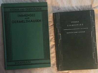 Immensee by Theodor Storm P / Very Old Pre-war German / Antique book