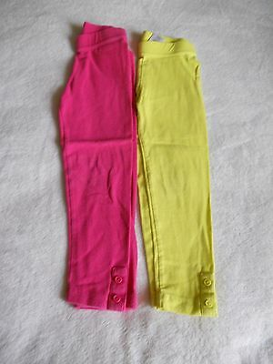 Lot Of 2 Gymboree Girls Size 4 Leggings Bright Yellow And Bright Pink