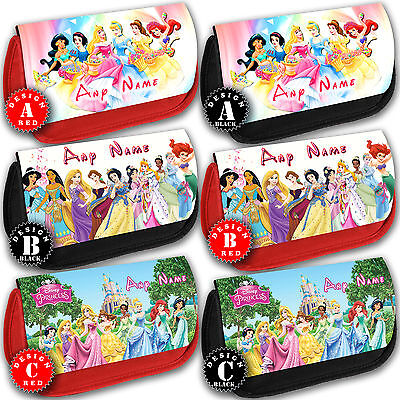 DISNEY PRINCESS Personalised Pencil Case Make Up Bag School Any Name Girls Gift