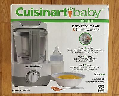 NEW Cuisinart BFM-1000 Baby Food Maker and Bottle Warmer