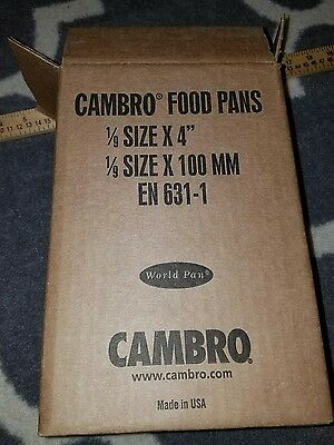 New set of 6 Black Cambro - 1/9 Size 4 in Deep Food Pan
