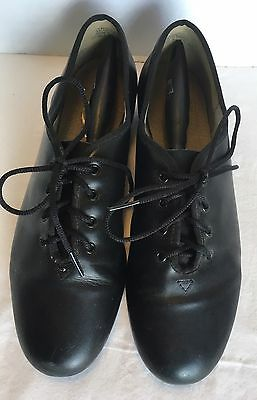 Capezio Black Lace Up Tap Shoes with Split Soles Tele Tone Taps Womens Size 10.5